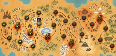 """Карта местности игры """"Оплот Империи"""""""