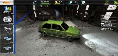 Модернизация автомобиля в игре ВКонтакте «Underground GT Club»